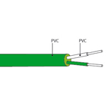 Câble de compensation ou d'extension thermocouple K isolation PVC PVC