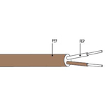 Câble de compensation ou d'extension thermocouple T isolation FEP FEP plat