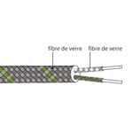 Câble de compensation ou d'extension thermocouple K isolation FIBRE DE VERRE FIBRE DE VERRE