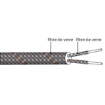 Câble de compensation ou d'extension thermocouple T isolation FIBRE DE VERRE FIBRE DE VERRE